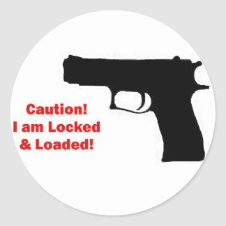 Locked and Loaded Classic Round Sticker
