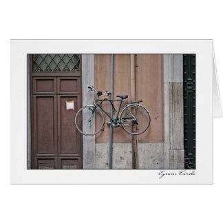 Locked Bike Greeting Cards