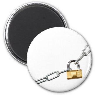 Locked chain fridge magnet
