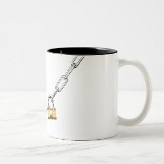 Locked chain Two-Tone coffee mug