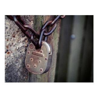 Locked gate postcard