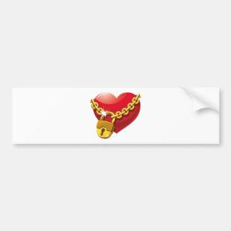 Locked Heart Bumper Sticker