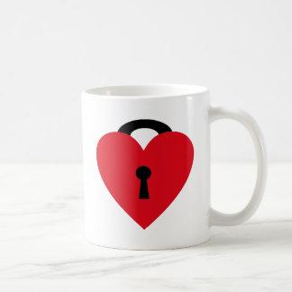 locked heart coffee mug