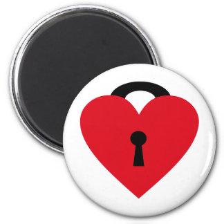 locked heart magnet