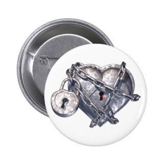 Locked Heart Pinback Button