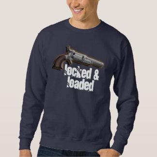 Locked loaded gun lovers men sweatshirt
