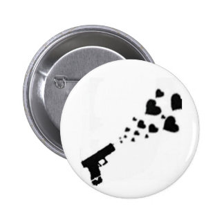 Locked & Loaded With Hearts Pinback Button