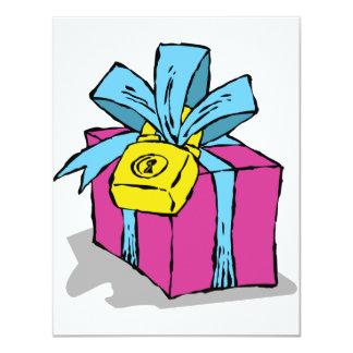 "Locked Present Invitations 4.25"" X 5.5"" Invitation Card"