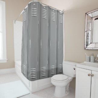 Locker Room Design Shower Curtain