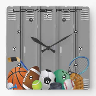 Locker Room Design Wall Clock