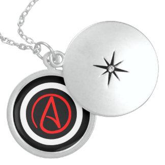 Locket ateo del logotipo medallón