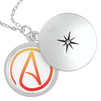Locket ateo del símbolo pendientes