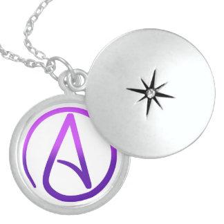 Locket ateo del símbolo medallones