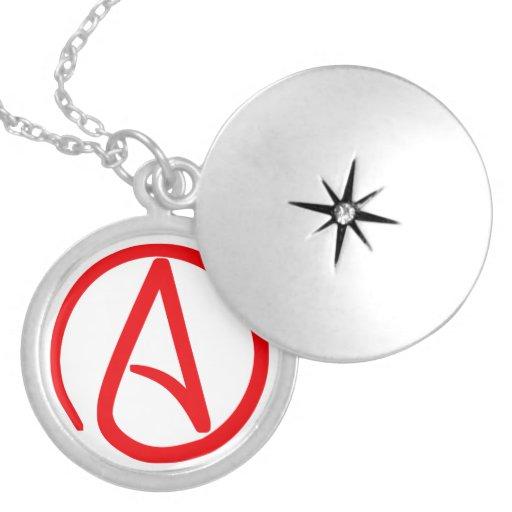 Locket ateo del símbolo pendiente