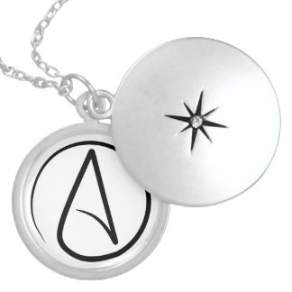Locket ateo delgado del símbolo medallón