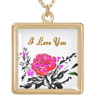 Locket color de rosa rosado adorable del final del joyerias personalizadas