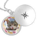 Locket de encargo conmemorativo de la foto del gat medallón