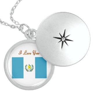 Locket de la bandera de Guatemala Medallón