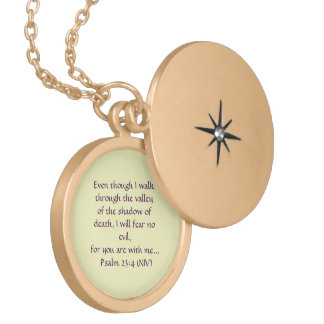 """LOCKET DE LA ESCRITURA DE SEÑOR IS MY SHEPHERD"" COLGANTES"