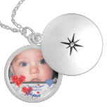 Locket de la foto de la adopción collar redondo