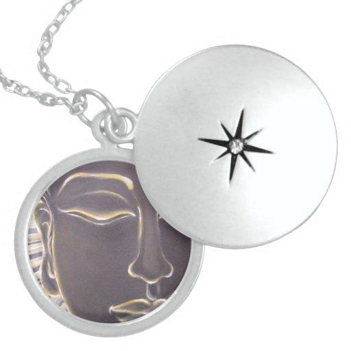 Locket de la plata esterlina de Buda Dije