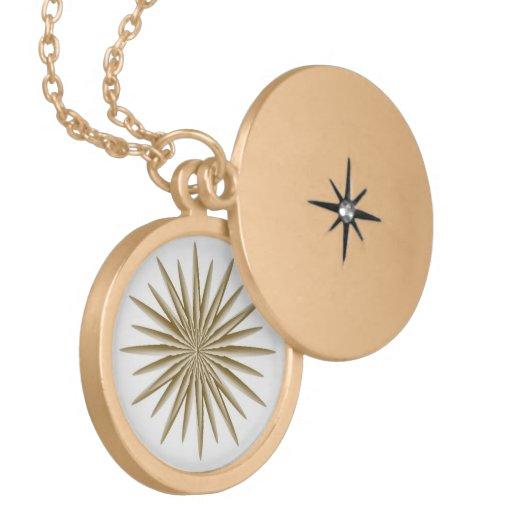 Locket de oro de la estrella joyería