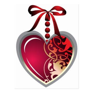 Locket del corazón tarjeta postal