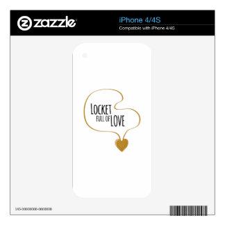 Locket Full Of Love Skin For iPhone 4