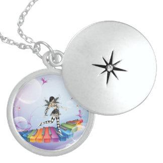 Locket N de la plata esterlina de la ninfa del pia Pendientes Personalizados