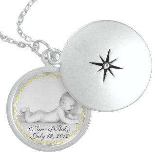Locket Necklac de la plata esterlina del recuerdo  Pendientes