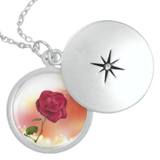 locket redondo hermoso de la plata esterlina (subi joyería