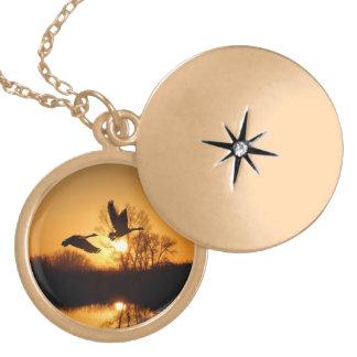 Locket: Sunrise Ducks Locket Necklace