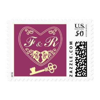 Locket With Key Stamp Customizable