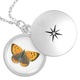 Lockets de cobre del diseño de la mariposa pendiente