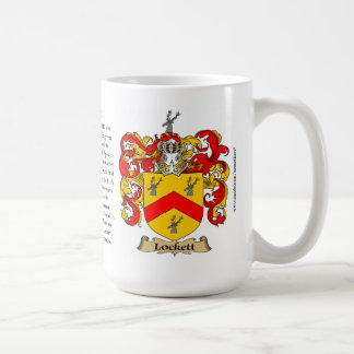 Lockett, the Origin, the Meaning and the Crest Coffee Mug