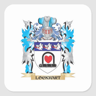Lockhart Coat of Arms - Family Crest Square Sticker
