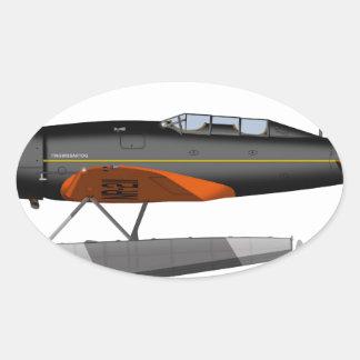 Lockheed 8 Sirius 413413 Pegatina Ovalada