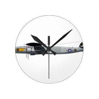 Lockheed C-121G Constellation MATS4048 Round Wallclocks