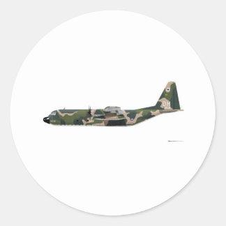Lockheed C-130 Hércules Vietnam Pegatina Redonda