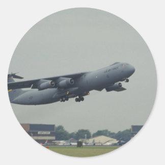 Lockheed C-141B Starlifter Pegatina Redonda