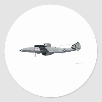 "Lockheed EC-121 Warning Star ""Triple Nickel"" Classic Round Sticker"