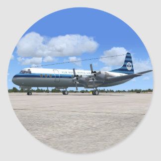 Lockheed Electra Airliner Classic Round Sticker