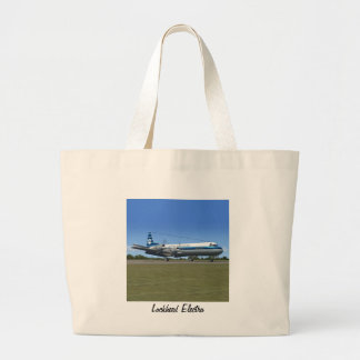 Lockheed Electra Airliner Large Tote Bag
