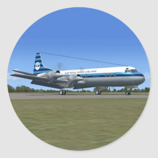 Lockheed Electra Airliner Sticker