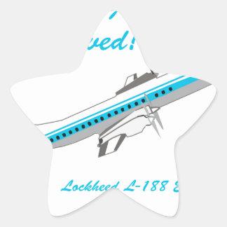 Lockheed Electra L-188 Pegatina En Forma De Estrella