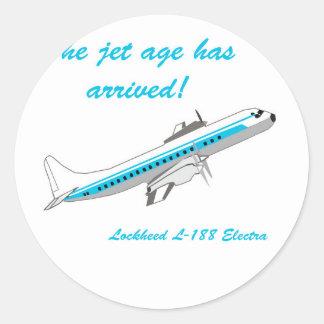 Lockheed Electra L-188 Pegatina Redonda