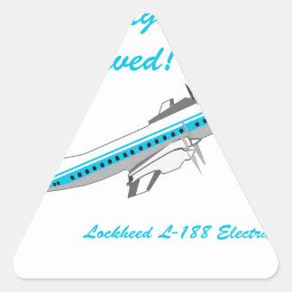 Lockheed Electra L-188 Pegatina Triangular