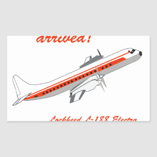 Lockheed Electra Vintage Aircraft Rectangular Sticker