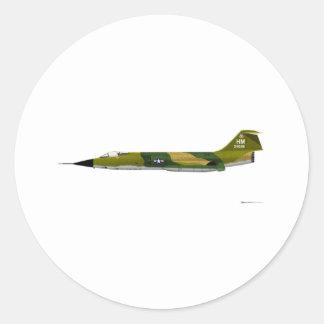 Lockheed F-104 Starfighter Classic Round Sticker