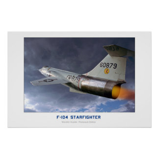 Lockheed F-104 Starfighter Poster